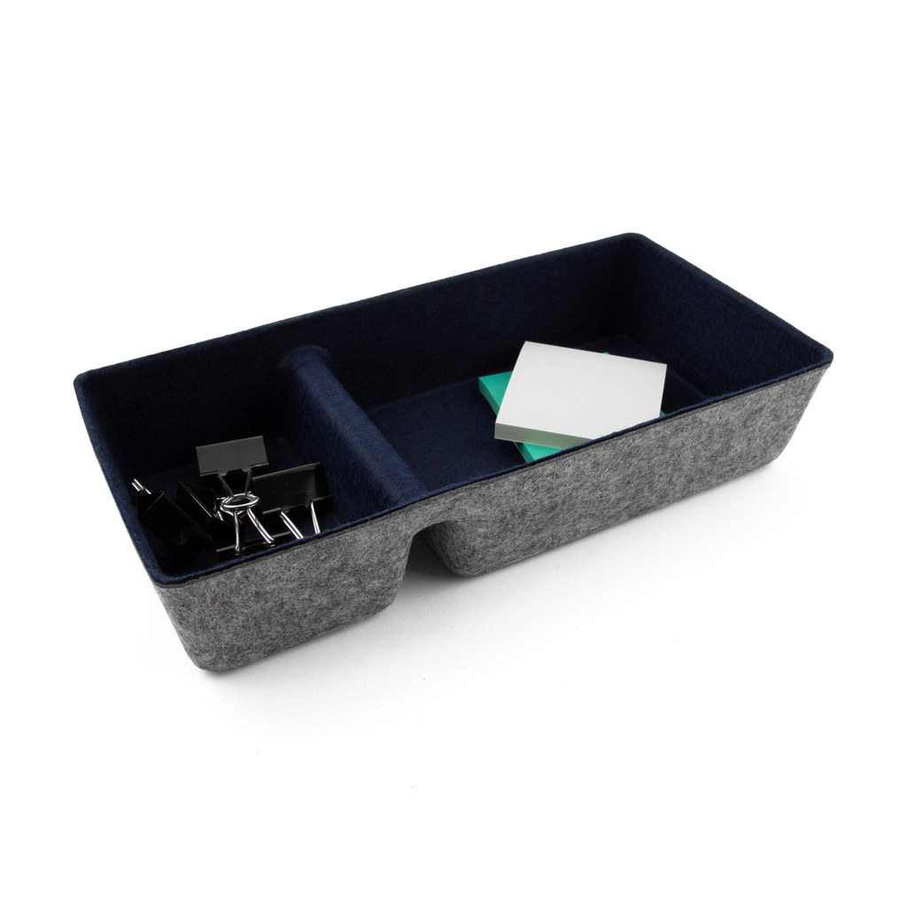 Felt Drawer Organizer Divided NAVY 12.5 x 6 x 2.5 inches / 32 x 15 x 6 cm