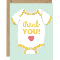 Baby Onesie Thank You Boxed Cards