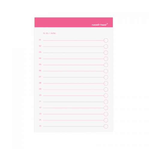 To-Do Adhesive Notes - Pink - Set Of 3