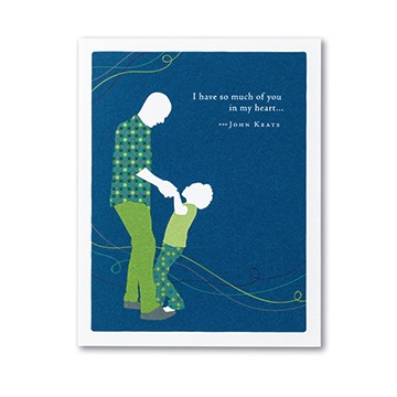 """I have so much of you in my heart..."" - John Keats Card"