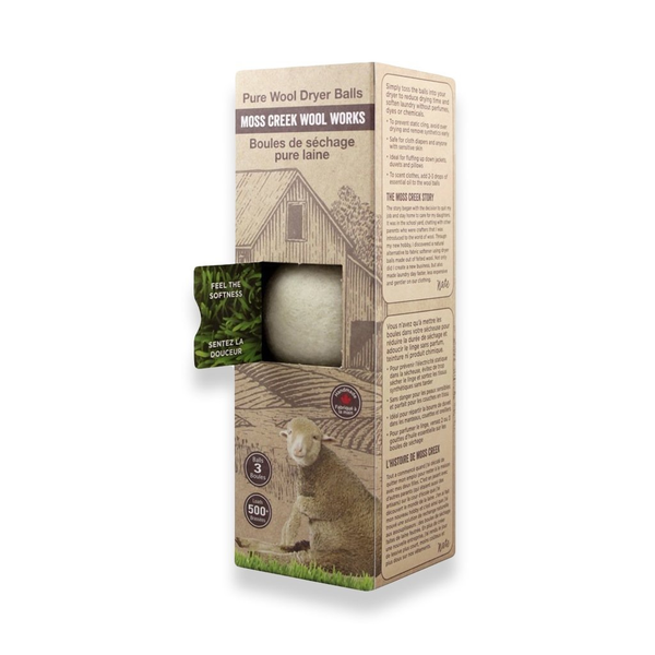 Moss Creek Merino Wool Dryer Balls (Set of 3) - WHITE