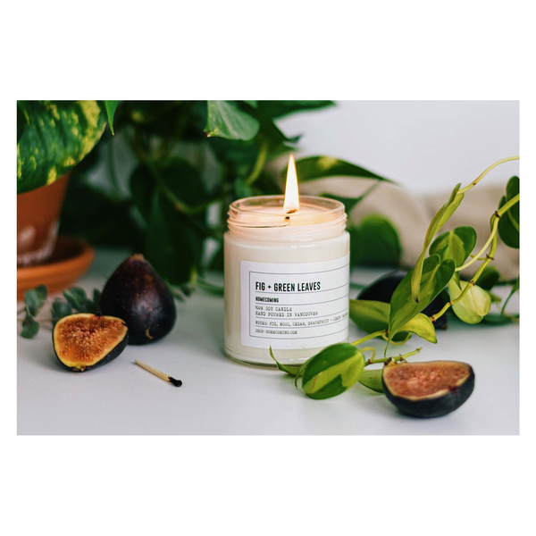Fig + Green Leaves Soy Wax Candle
