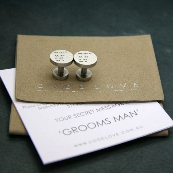 """Groomsman"" Cuff Links Card"