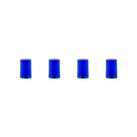 Acrylic Cylinder Magnets Set of 4 - BLUE
