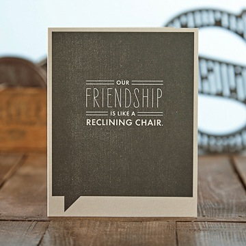 F&F Card - Our friendship is like