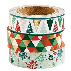 Holiday Geo Foil Washi Set of 3
