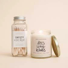 Let's Stay Home 9oz Soy Candle