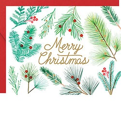 Merry Christmas Branches Foil