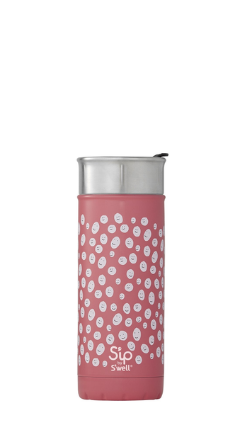 S'well/S'ip - 16oz 475ml Happy Face Travel Mug