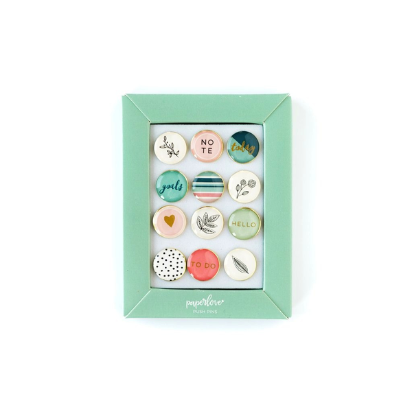 Push Pins - Paper Love Graphic Floral