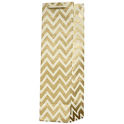 Gold Chevron Wine Bag