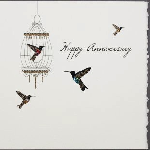 Anniversary Card - Birds