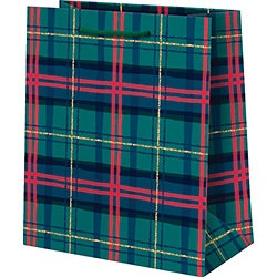 Holiday Plaid Foil Medium Bag
