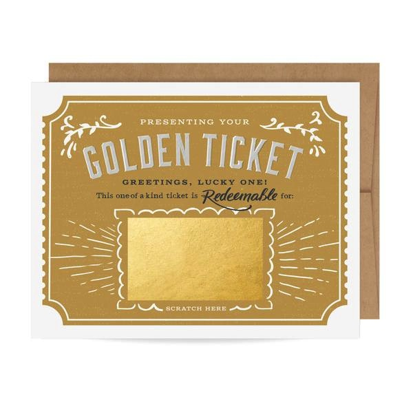 Golden Ticket Scratch-off Card