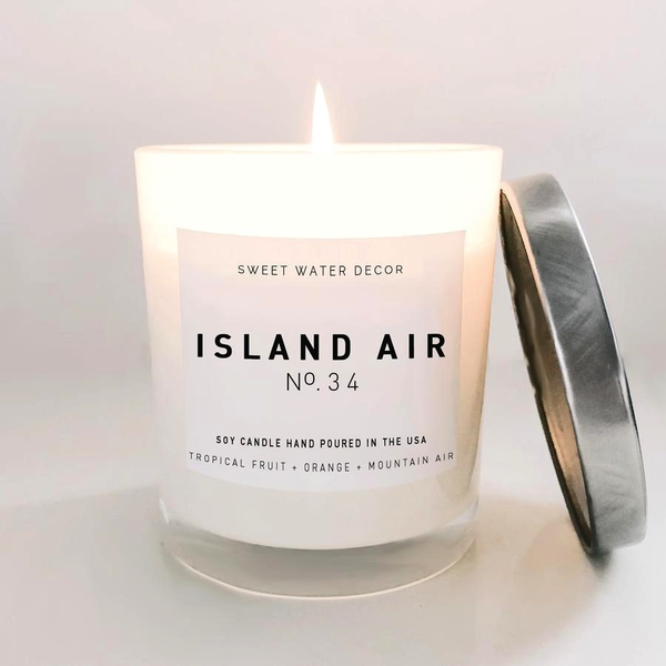 Island Air Soy Candle White Jar