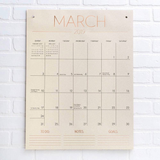 2019 Tall on the Wall Grid Calendar