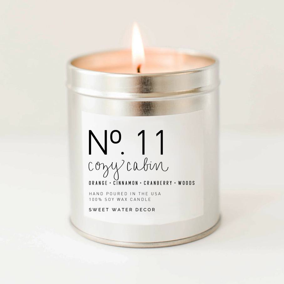 Silver Tin Candle -