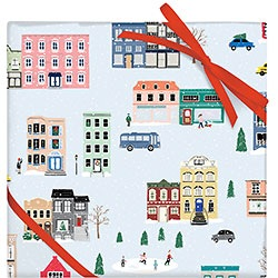 Snowy City Wrap - 2 Sheets / Roll