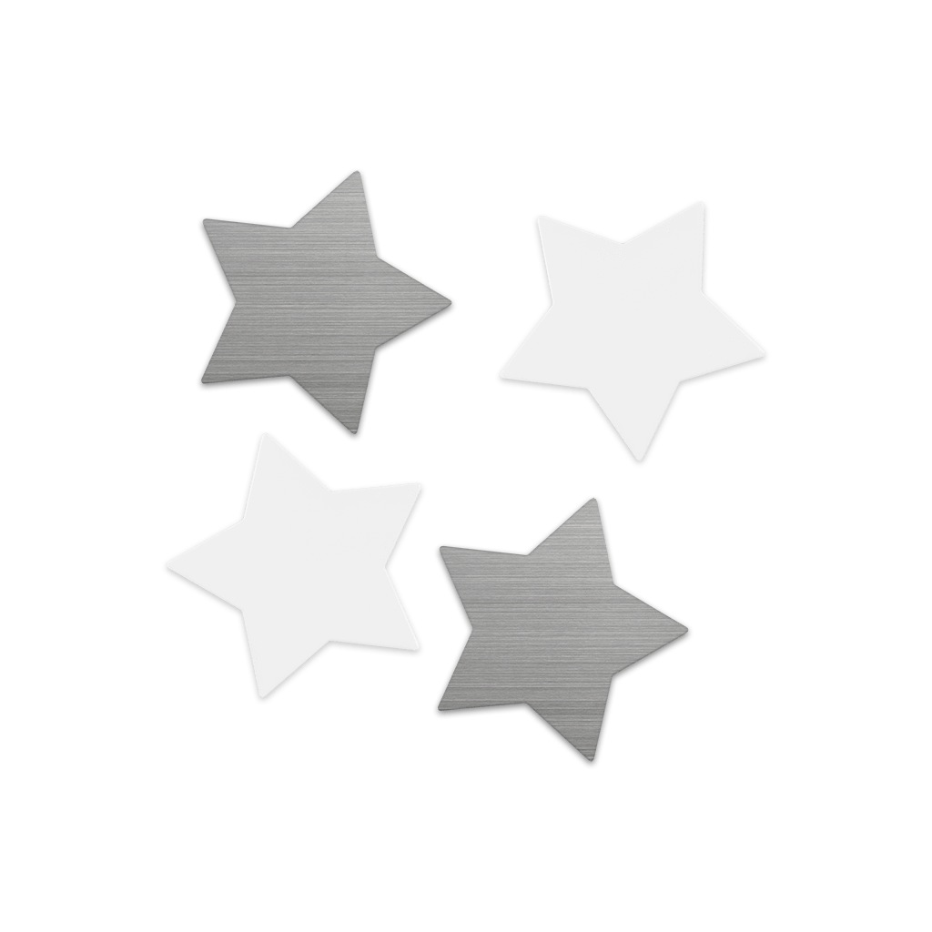 Shape-up! metal magnets STARS
