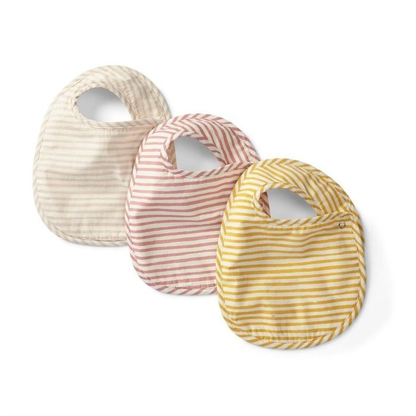 Bib Set of 3 - Stripes Away Petal
