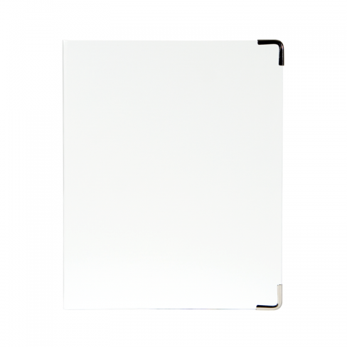 Mini Binder - White Patent