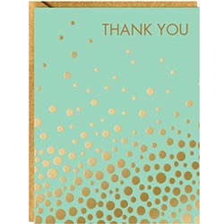 Gold Confetti Mint - boxed thank you