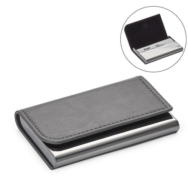 Executive Curve Business Card Holder - Grey