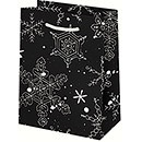 Black and White Snowflake Small Bag
