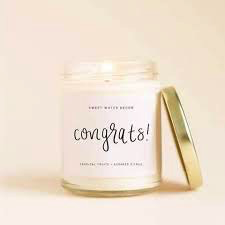Congrats! Soy 9oz Soy Candle