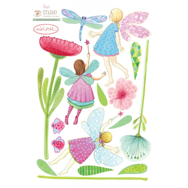 Mini Fabric Decals - Fairy Garden
