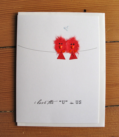 2 Red Birds - I love the U in US.