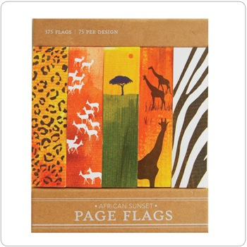 African Sunset - Page Flags