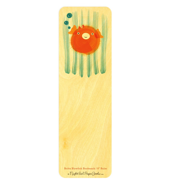 Britta Blowfish Bookmark & Ruler