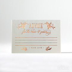 Filigree Advice Cards - Bride & Groom