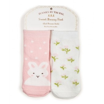 Bunnies Do Delight Socks - 2 pair - 0-6 mo