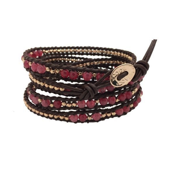 "5 Wrap Bracelet - ""Make Love Not War 2"""