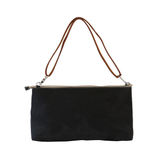 la busta - paper clutch large BLACK
