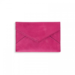 Leather Card Holder - Pink