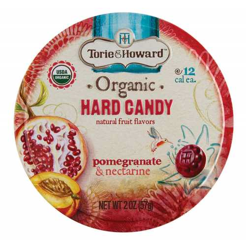 Organic Hard Candy Tin - Pomegranate & Nectarine