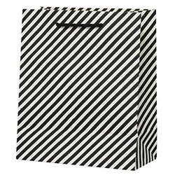 Black & White Diagonal Large Bag