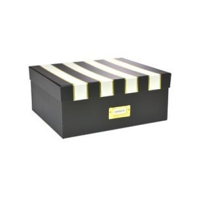 Medium Storage Box - Gold Foil Stripes