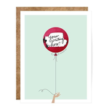 Mint & Red Balloon Scratch-off Card