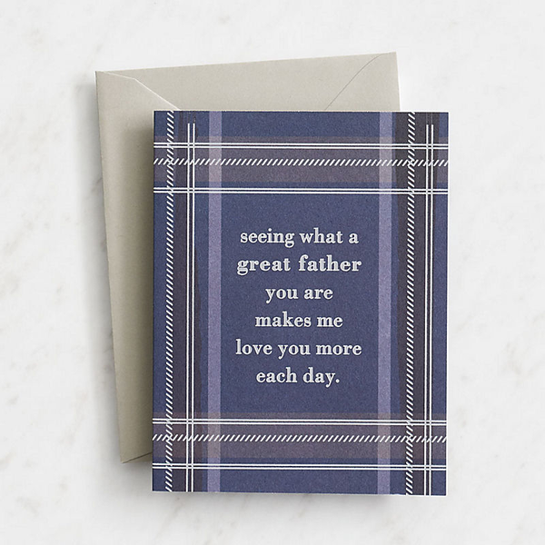 Husband Plaid and Foil Father's Day Card