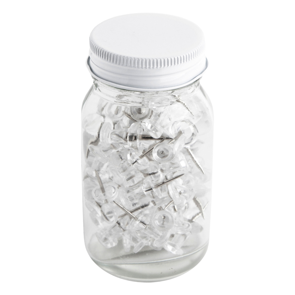 kikki k - PUSH PINS 80PK IN JAR