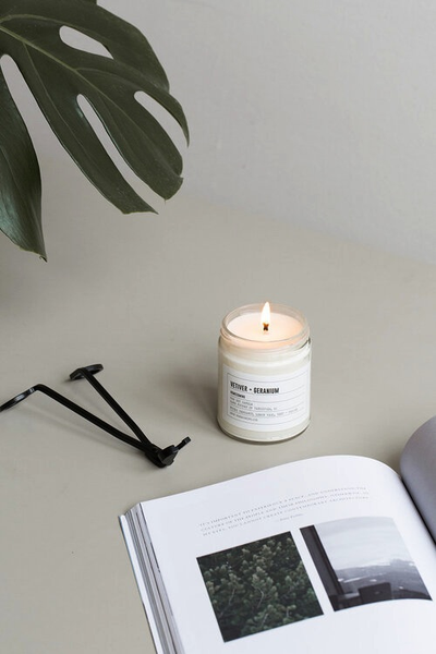 Vetiver + Geranium Soy Wax Candle