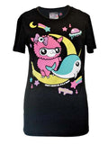 Alpaca Moon & Narwhal tee by NewBreed Girl..creepy cute, like you!