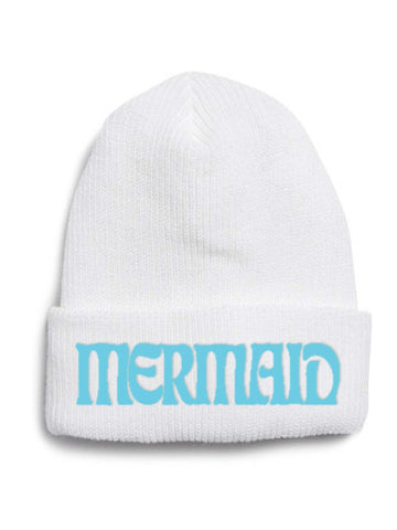 Embroidered Mermaid Beanie