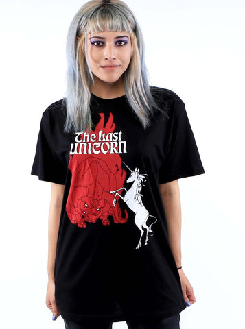 THE LAST UNICORN Retro Poster T-Shirt: Unisex Fit