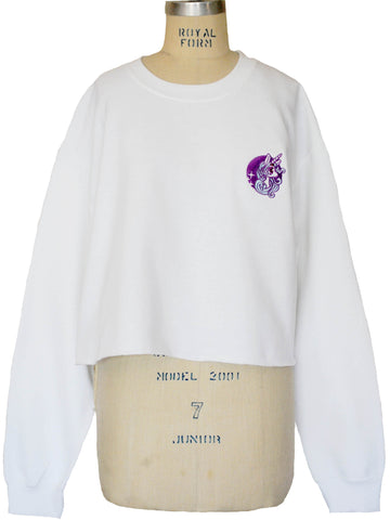 NewBreed Embroidered Unicorn Crop Fleece