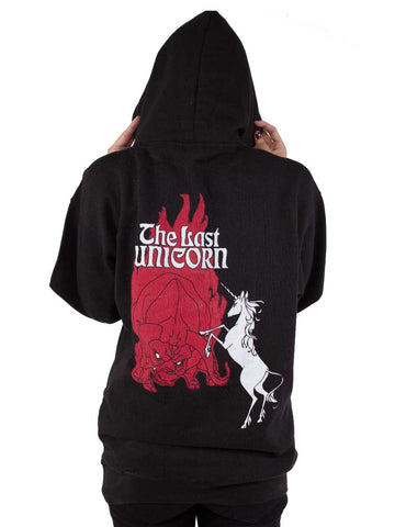 THE LAST UNICORN Retro Poster Pull Over Hoodie: BACK SOON